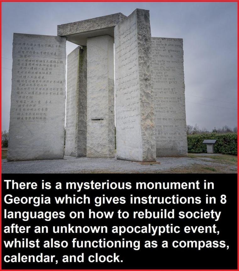 Las piedras guía de Georgia