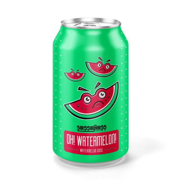watermelon beer can