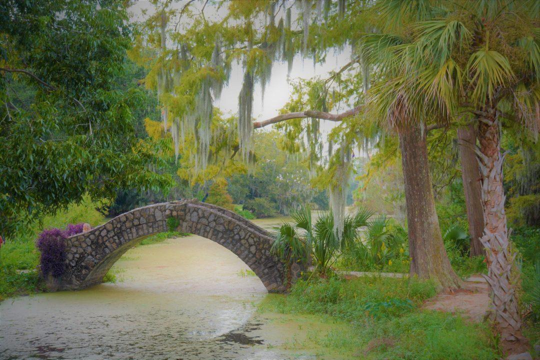 Bridge in City Park of New Orleans