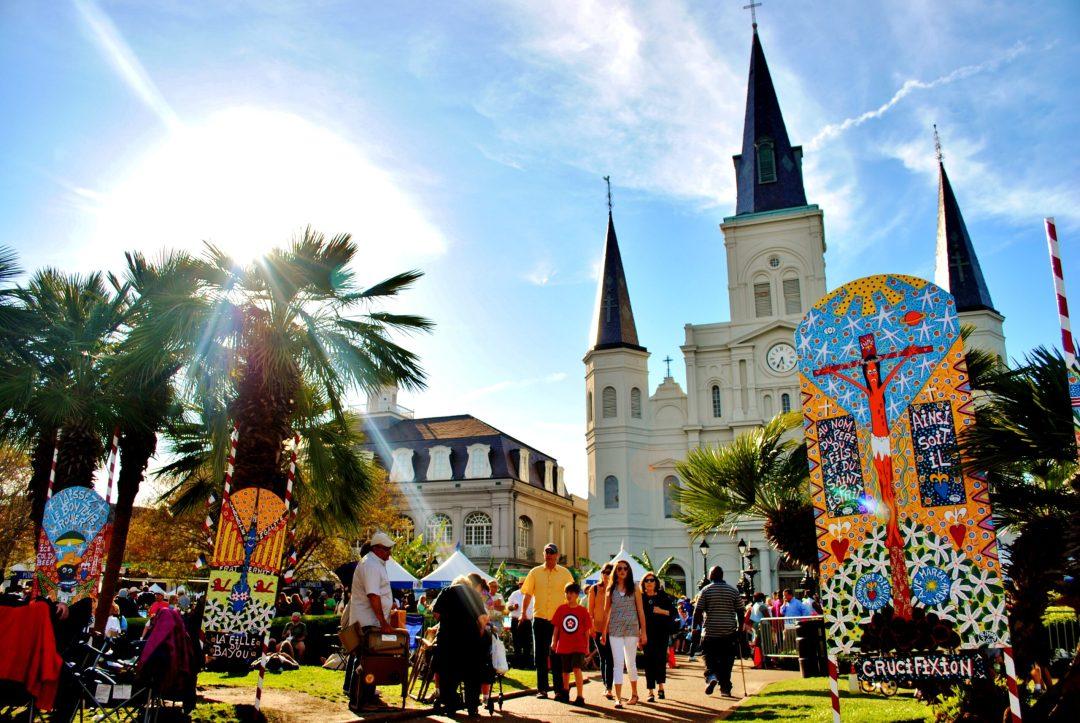 Jackson Square during a festival