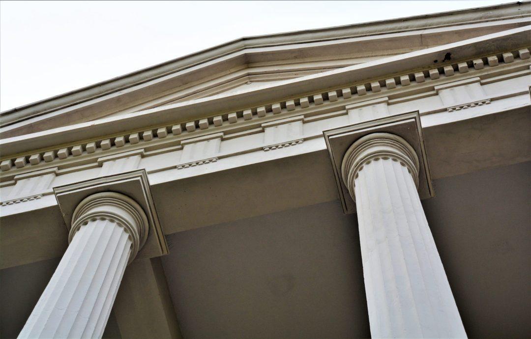 Doric columns on a Garden District mansion