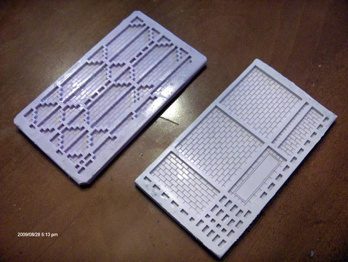 Tiny Brick molds 1 and 6