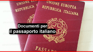 Documenti per il passaporto italiano 2019