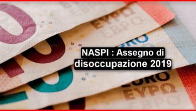 Photo of NASPI : Assegno di disoccupazione 2019 NOVITÀ