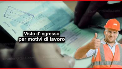 Photo of visto d ingresso per motivi di lavoro