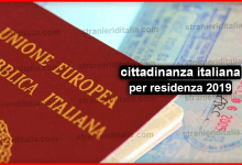Photo of Documenti per cittadinanza italiana per residenza 2019
