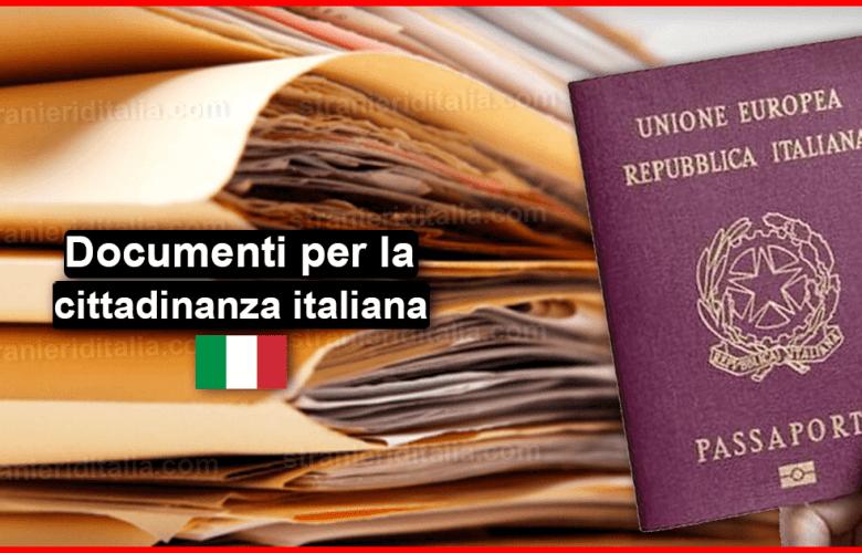 Documenti per la cittadinanza italiana 2019