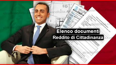 Elenco documenti Reddito di Cittadinanza 2019