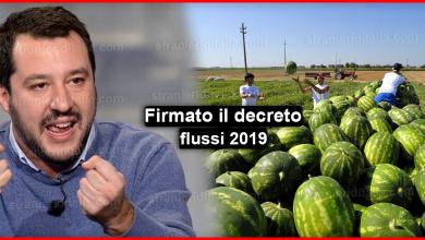 Photo of Firmato il decreto flussi 2019 – Ultime notizie !