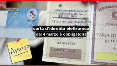 Photo of La carta d identità elettronica dal 4 marzo è obbligatoria