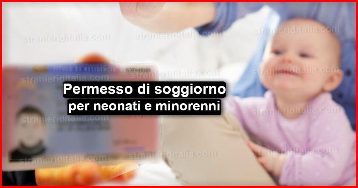 Richiesta permesso di soggiorno per neonati e minorenni for Permesso di soggiorno per neonati in italia 2017