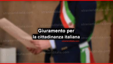 Giuramento cittadinanza italiana testo