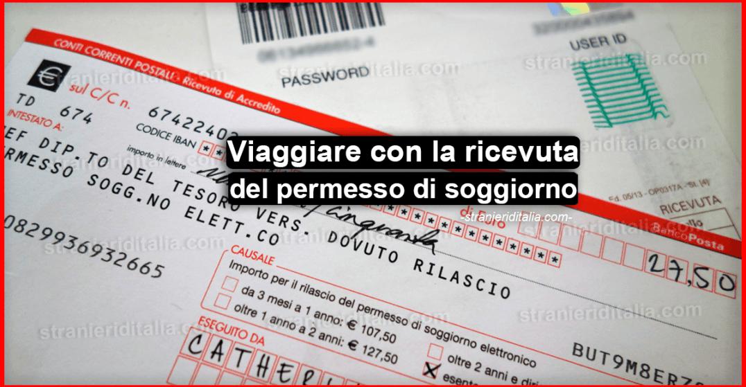 Viaggiare con la ricevuta del permesso di soggiorno 2019