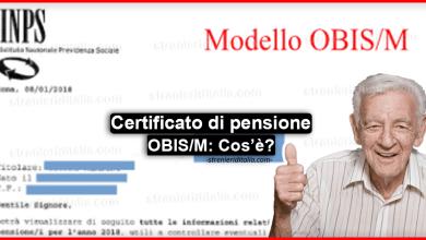 """Photo of Certificato di pensione """"OBIS/M"""", cos'è e come scaricarlo online?"""