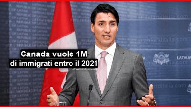 Il Canada vuole 1 milione di immigrati in più nei prossimi 3 anni