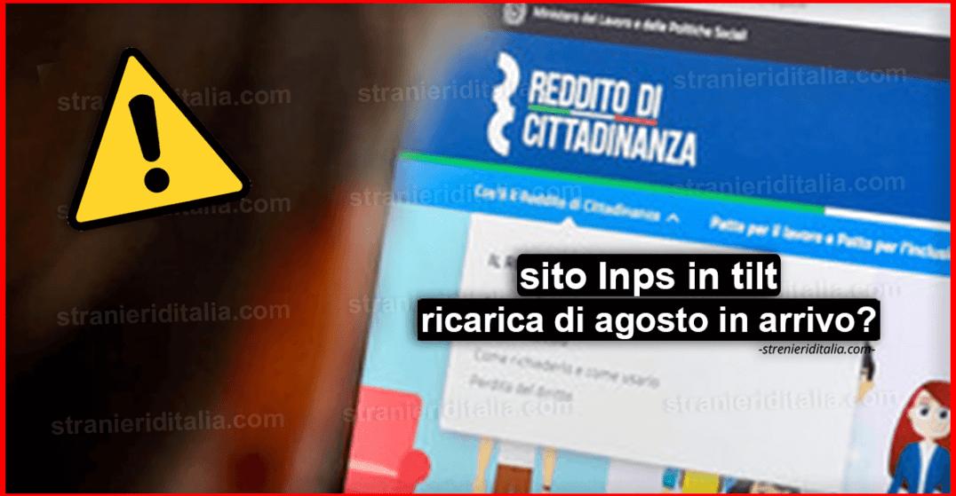 Reddito Di Cittadinanza Sito Inps In Tilt Ricarica Di