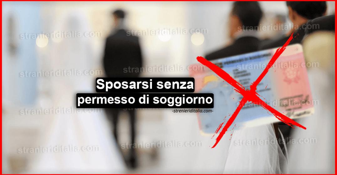 Sposarsi senza permesso di soggiorno in Italia, è possibile?