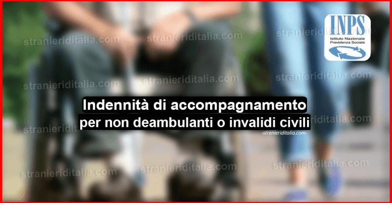 Inps & Indennità di accompagnamento per non deambulanti o invalidi civili
