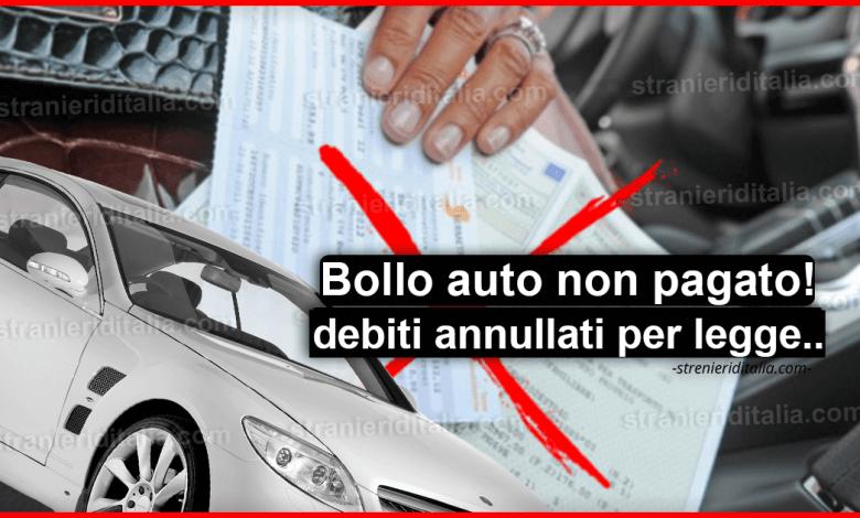 Bollo auto aggiornamenti: debiti annullati!!