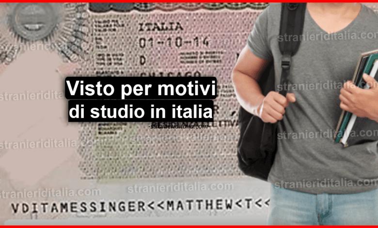 Visto per motivi di studio in italia: cos'è e come chiederlo?