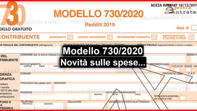 Photo of Modello 730/2020: Novità, da chi e quando deve essere fatto?