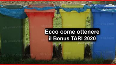 Photo of Bonus TARI 2020: (cos'è e come ottenerlo) | Stranieri d'Italia