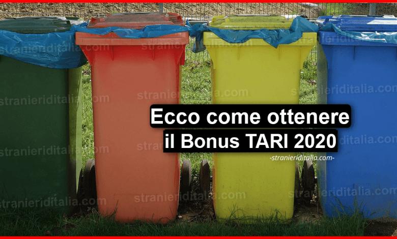 Bonus TARI 2020: (cos'è e come ottenerlo) | Stranieri d'Italia