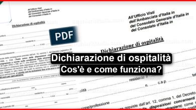 Photo of Dichiarazione di ospitalità 2020 (Cos'è e come funziona) | Stranieri d'Italia