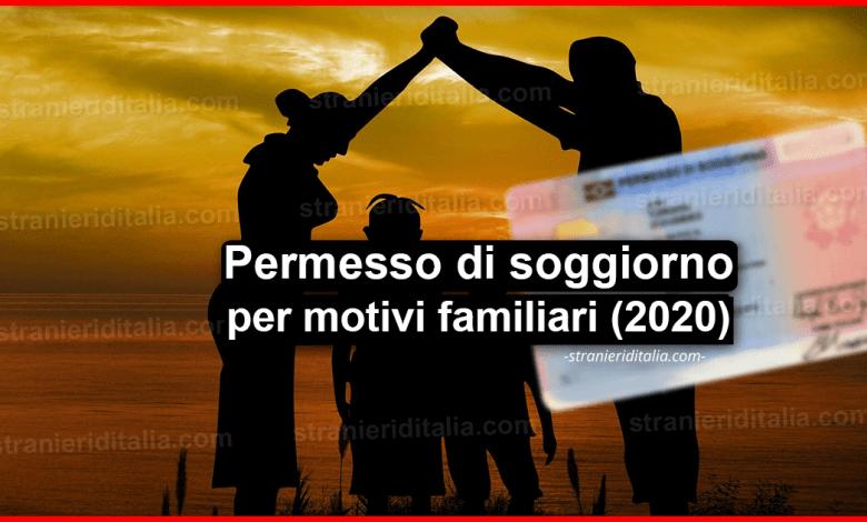 Permesso di soggiorno per motivi familiari | Stranieri d'Italia