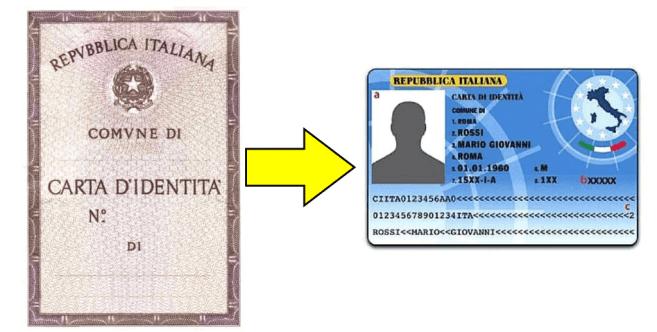 le vecchie carte d'identità.