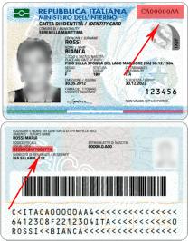 numero carta d identità elettronica spiegazione