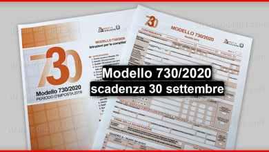 Photo of Modello 730/2020 (scadenza 30 settembre) | Stranieri d'Italia