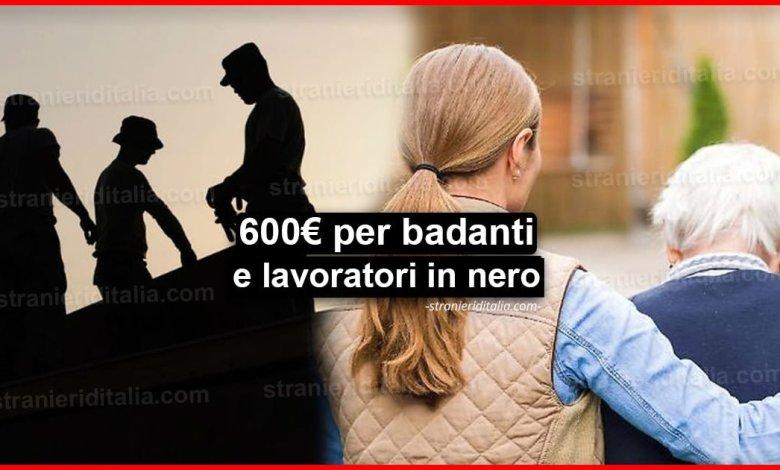 Reddito d'emergenza: 600 euro per badanti e lavoratori in nero