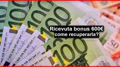 Photo of Ricevuta bonus 600 euro (come recuperarla)   Stranieri d'Italia