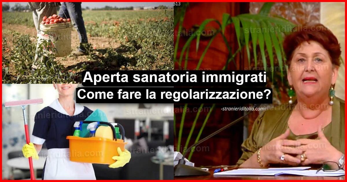 Aperta Sanatoria migranti, braccianti, colf e badanti ...