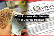 Photo of Bonus Decreto Rilancio: Ecco tutti i bonus da ottenere!