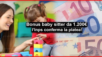 Photo of Bonus baby sitter da 1.200 euro: l'Inps conferma la platea!