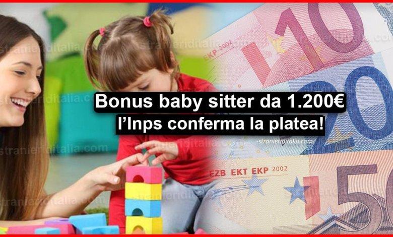 Bonus baby sitter da 1.200 euro: l'Inps conferma la platea!