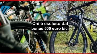 Photo of Bonus bici 500 euro: ecco chi non potrà usufruirne