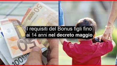 Photo of Bonus figli fino ai 14 anni nel decreto maggio 2020: I requisiti