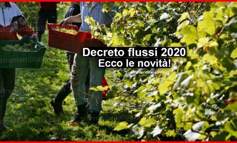 Decreto flussi 2020: Ecco le novità | Stranieri d'Italia