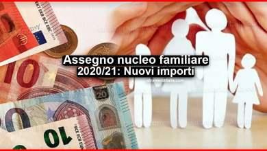 Photo of NoiPA, Assegno nucleo familiare 2020/21: Nuovi importi
