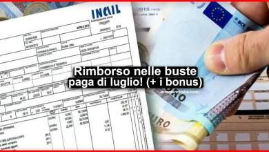 Photo of Rimborso nelle buste paga di luglio! (oltre ai bonus)