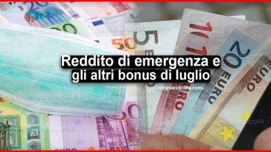 Photo of Reddito di emergenza e gli altri bonus di luglio: Ecco il calendario