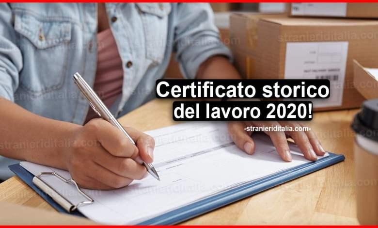 Certificato storico del lavoro 2020: A cosa serve il C2 ...