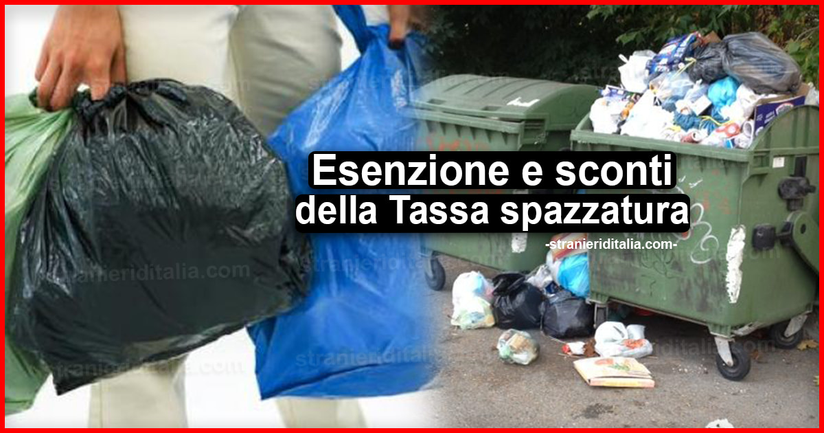Esenzione e sconti della Tassa spazzatura: ecco come non ...