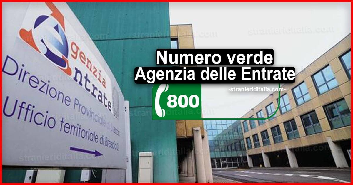 Numero verde Agenzia delle Entrate | Stranieri d'Italia