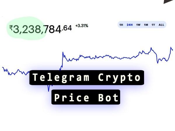Telegram crypto price bot in nodejs