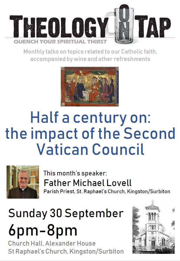"""""""Half a century on: the impact of the Second Vatican Council"""" (Fr Michael Lovell, 30 September 2018)"""