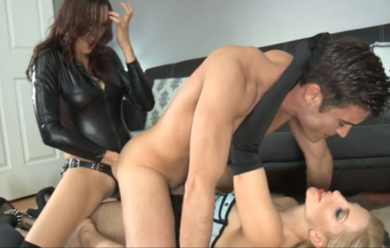 Strapon Pegging Double Anal Penetration
